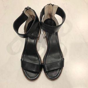 Frye black leather sandal!